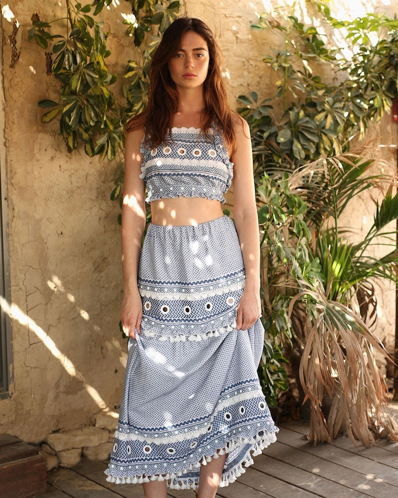 Dodo Bar Or Ataliya Eyelet-Embellished Cotton Midi Skirt
