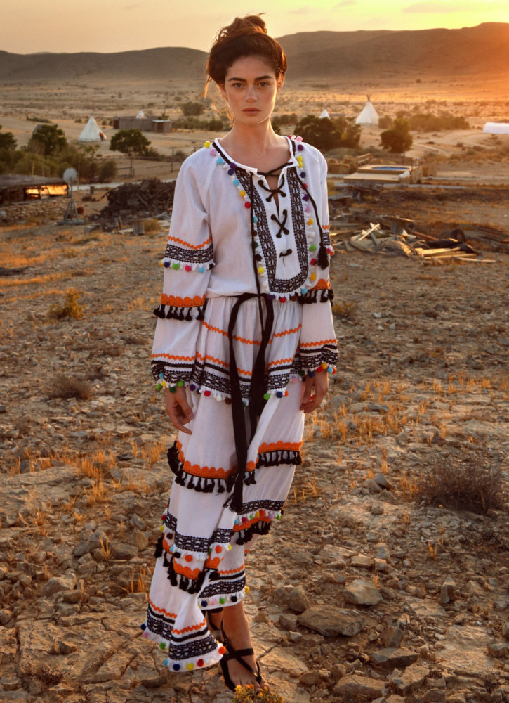 Dodo Bar Or Yehoray Pompom-Embellished Maxi Dress