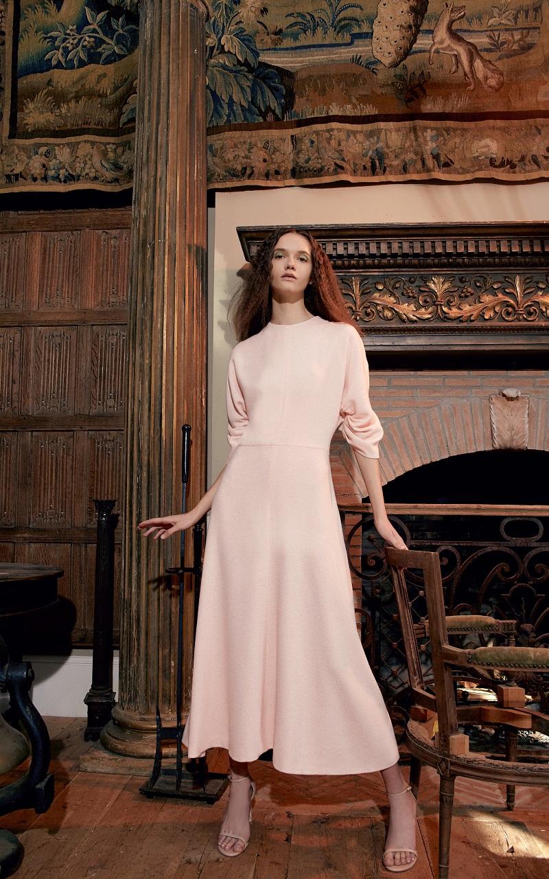 Emilia Wickstead Dana Ruffle Sleeve Cocktail Dress