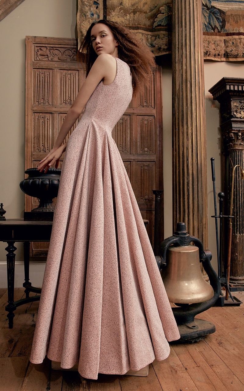 Emilia Wickstead Fiona Pebbled Gown