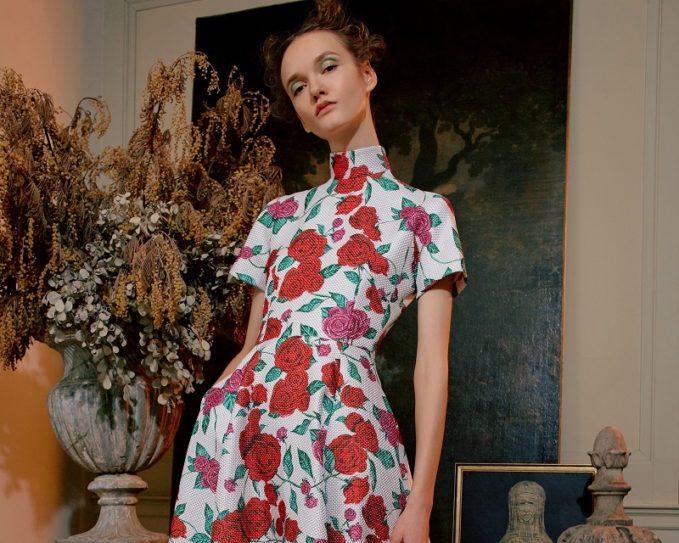 Emilia Wickstead Miranda Floral Gown