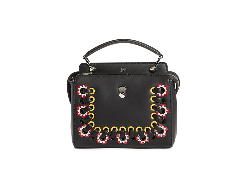 Fendi Small DOTCOM Click Leather Satchel