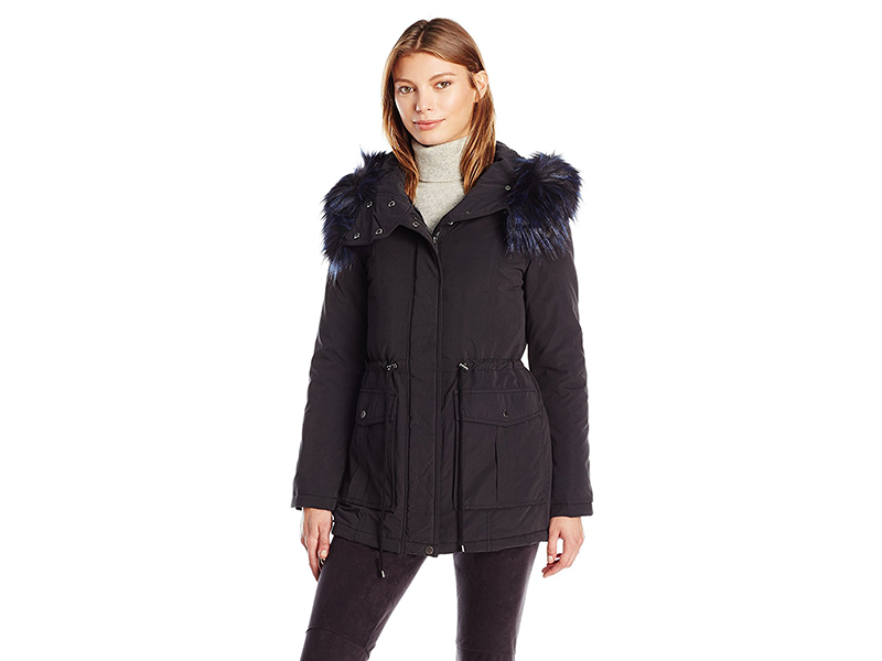 French Connection Glamour Faux Fur Lined Anorak