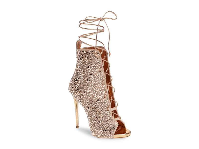 Giuseppe for Jennifer Lopez Lynda Embellished Lace-Up Sandal