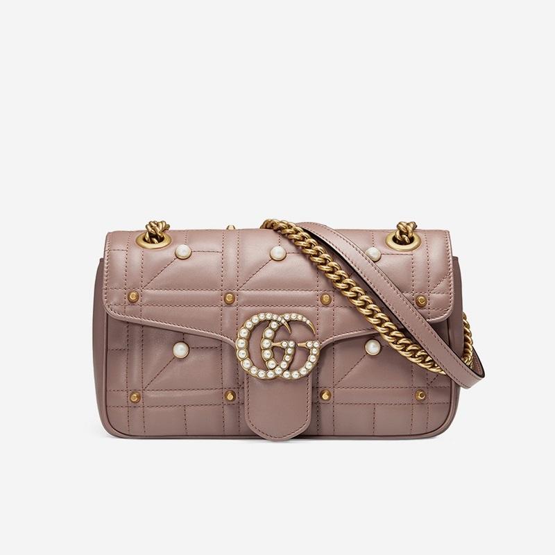Gucci GG Marmont Pearly Matelassé Mini Bag