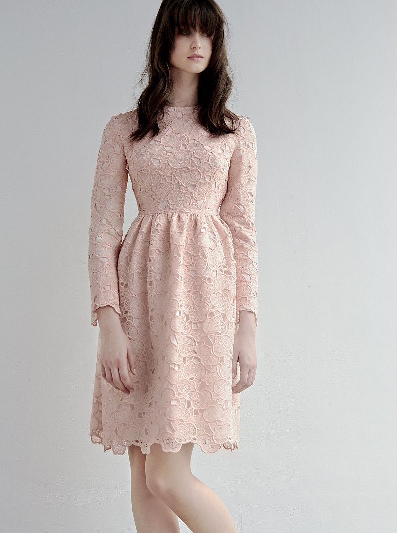 Huishan Zhang Axelia cloud-lace long-sleeved dress