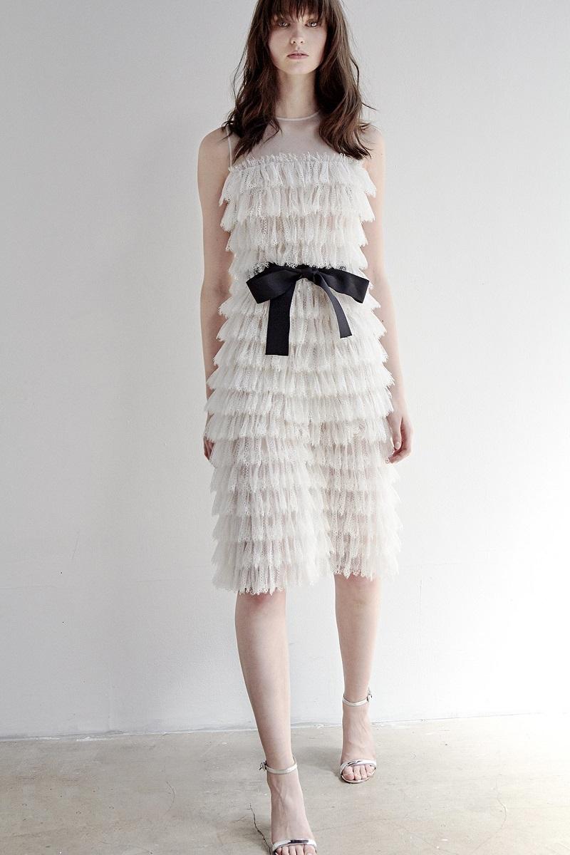 Huishan Zhang Ezra ruffled-lace jumpsuit