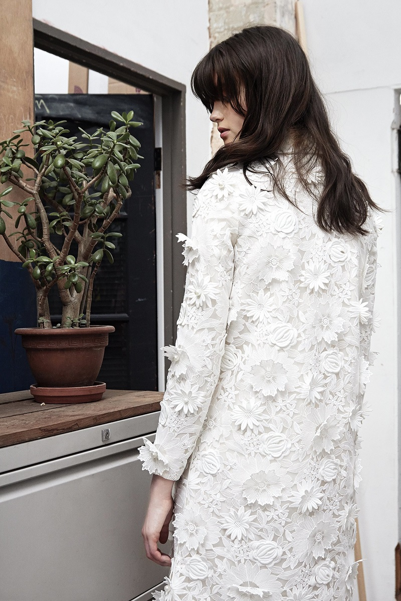 Huishan Zhang Petal guipure-lace dress