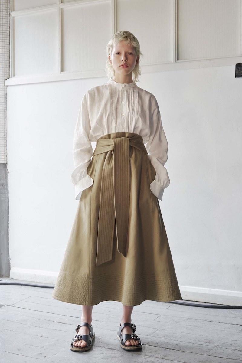 Joseph Arka A-Line Cotton-Canvas Midi Skirt