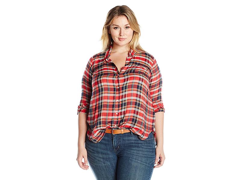 Lucky Brand Plus Size Back Overlay Shirt