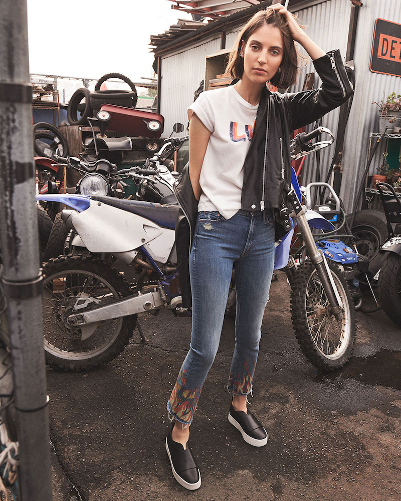 MOTHER The Insider Crop Fray Jeans