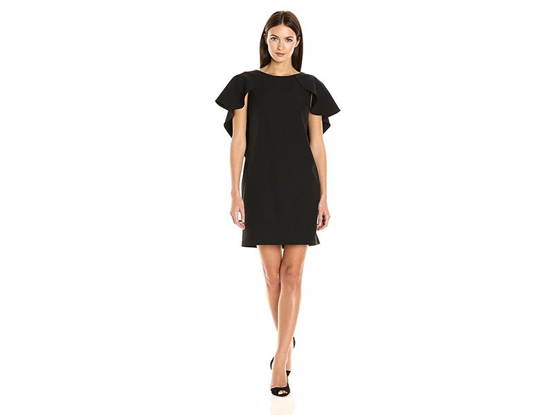Nanette Nanette Lepore Sheath Dress with Flutter Sleeve Cape Overlay