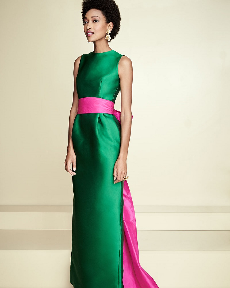 Oscar de la Renta Sleeveless Column Gown