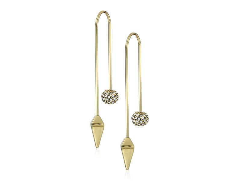 Rebecca Minkoff Cube/Ball Threader Drop Earrings