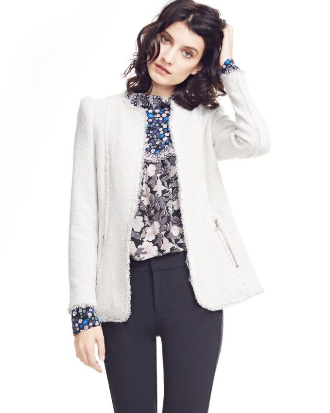 Rebecca Taylor Stretch Tweed Jacket