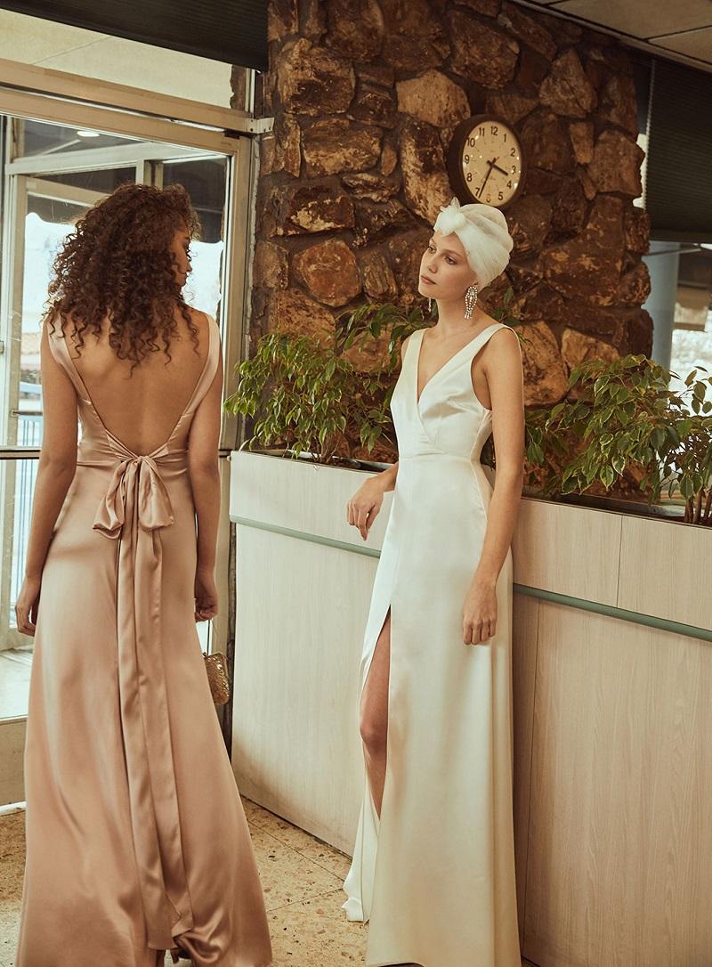 Reformation Eliana Dress in Ivory-