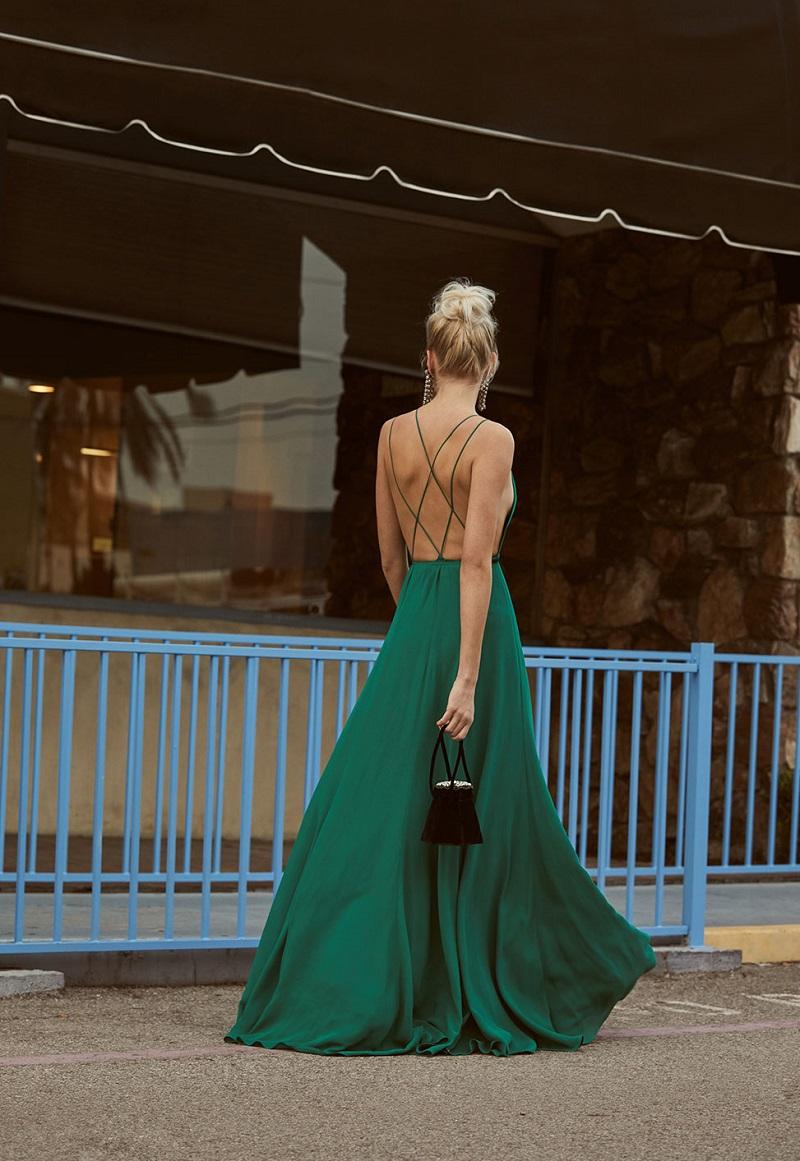 Reformation Tallulah Dress in Jade