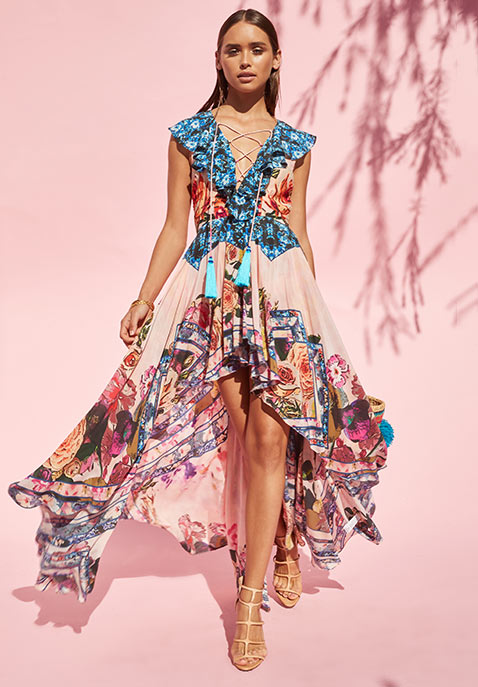 Rococo Sand Tassel Maxi Dress