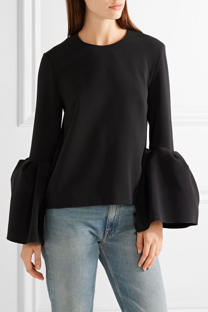 Roksanda Truffaut Stretch-Crepe Top