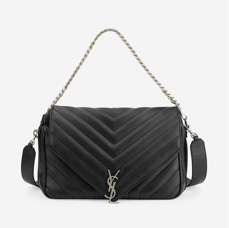 Saint Laurent Monogram Large Slouchy Matelassé Leather Shoulder Bag