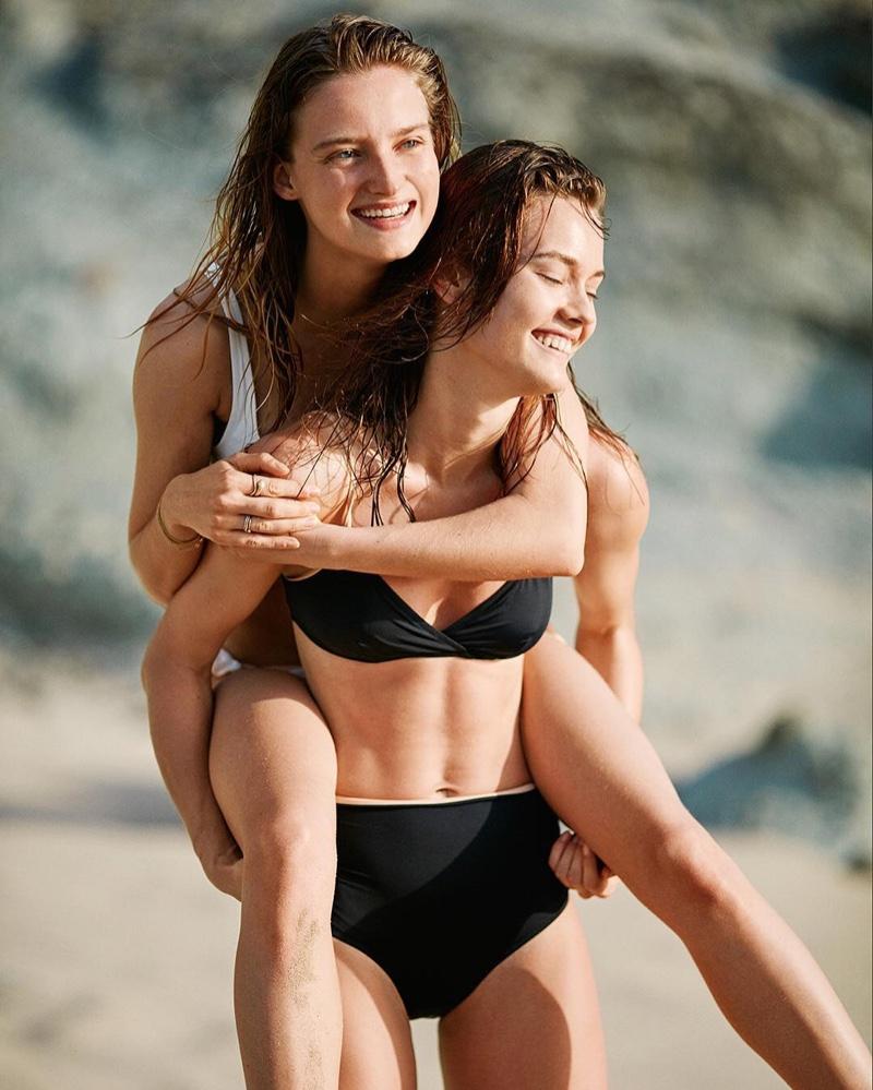 Solid & Striped Brigitte Solid Twist Bikini Top-