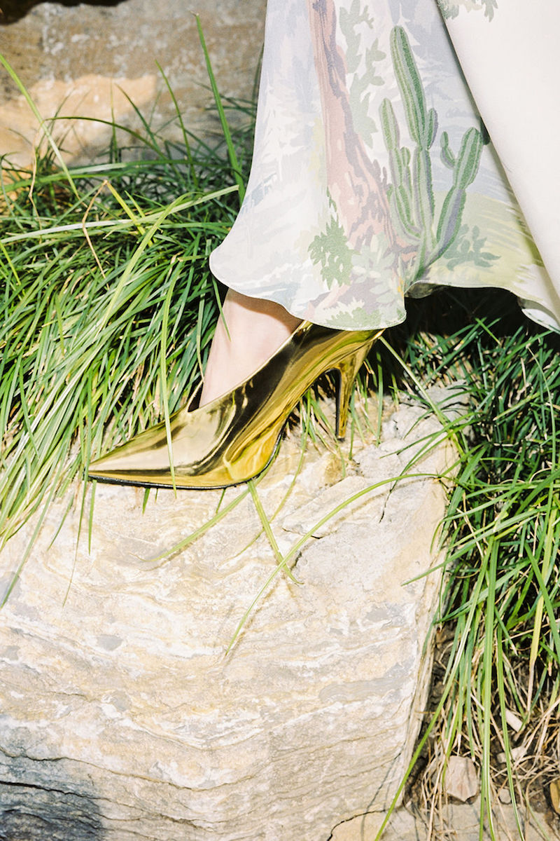 Stella McCartney Gold Pointed Pumps