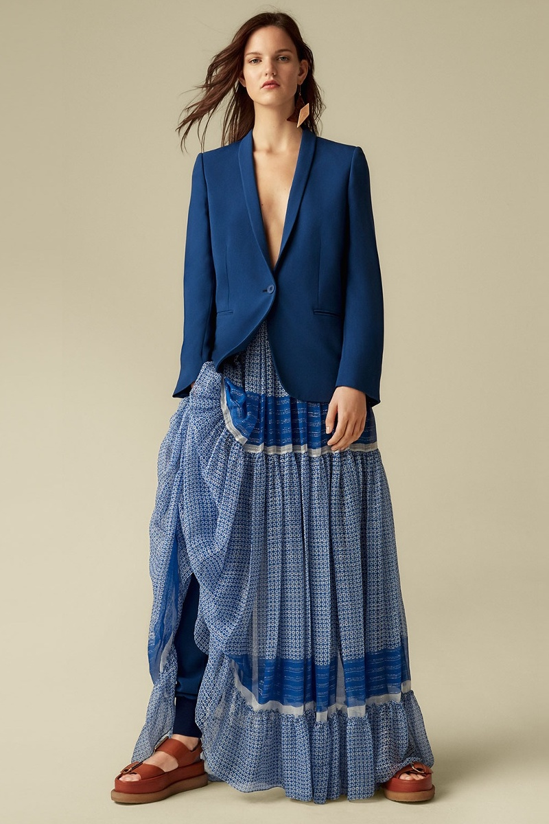 Stella McCartney Star-Print Tiered Maxi Skirt