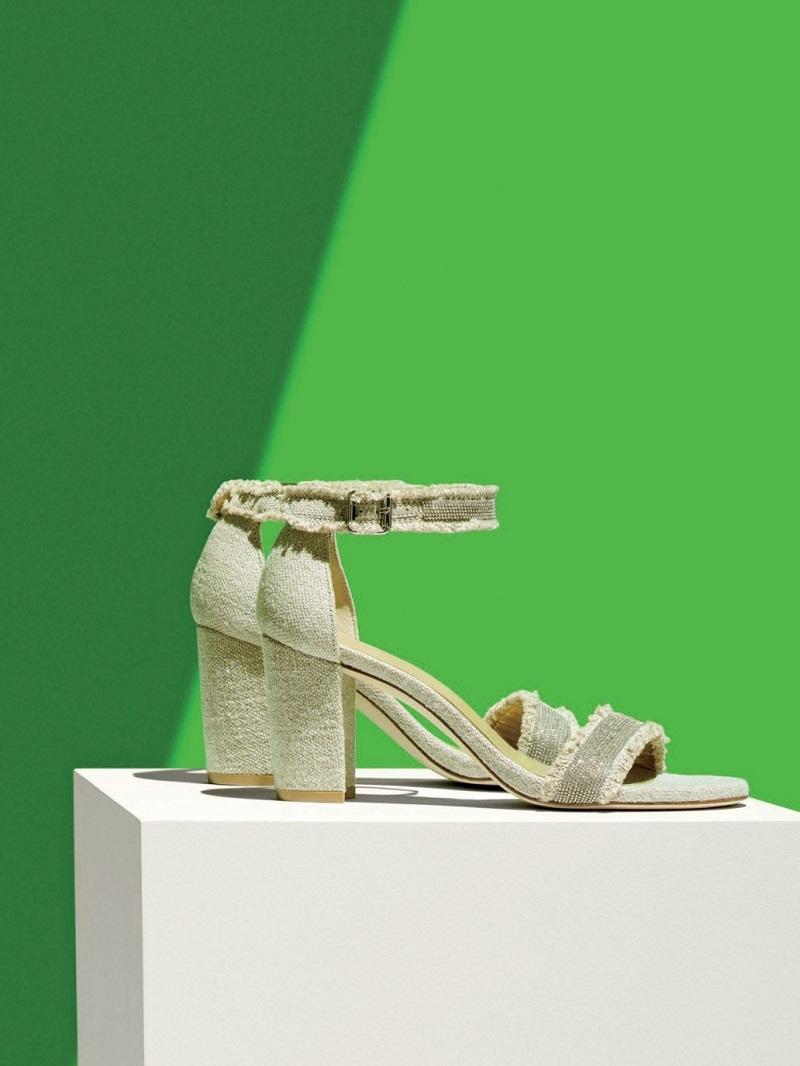 Stuart Weitzman Chaingang Fringe City Sandal