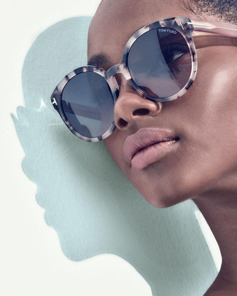 TOM FORD Philippa Two-Tone Round Cat-Eye Sunglasses