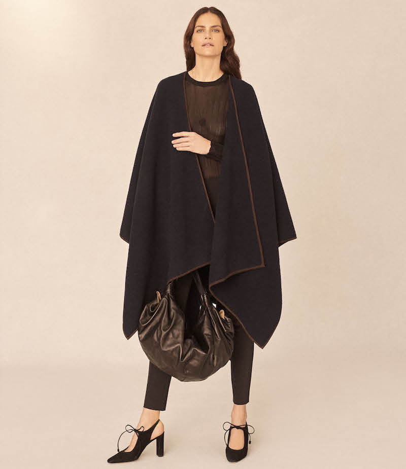 The Row Dusana Wool-Cashmere Cape