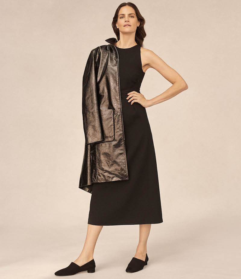 The Row Mendoa Patent Leather Coat