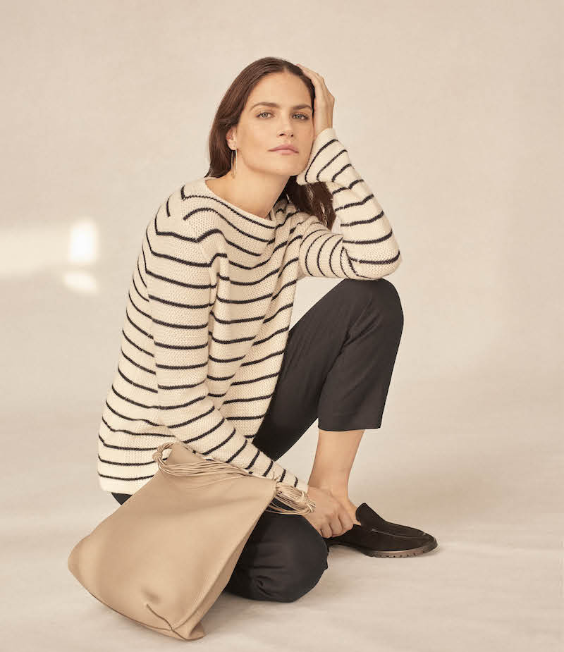 The Row Stretton Striped Cashmere-Silk Sweater