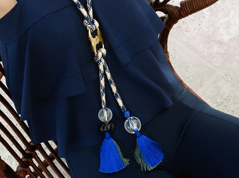 Tory Burch Long Gemini-link Rope Necklace