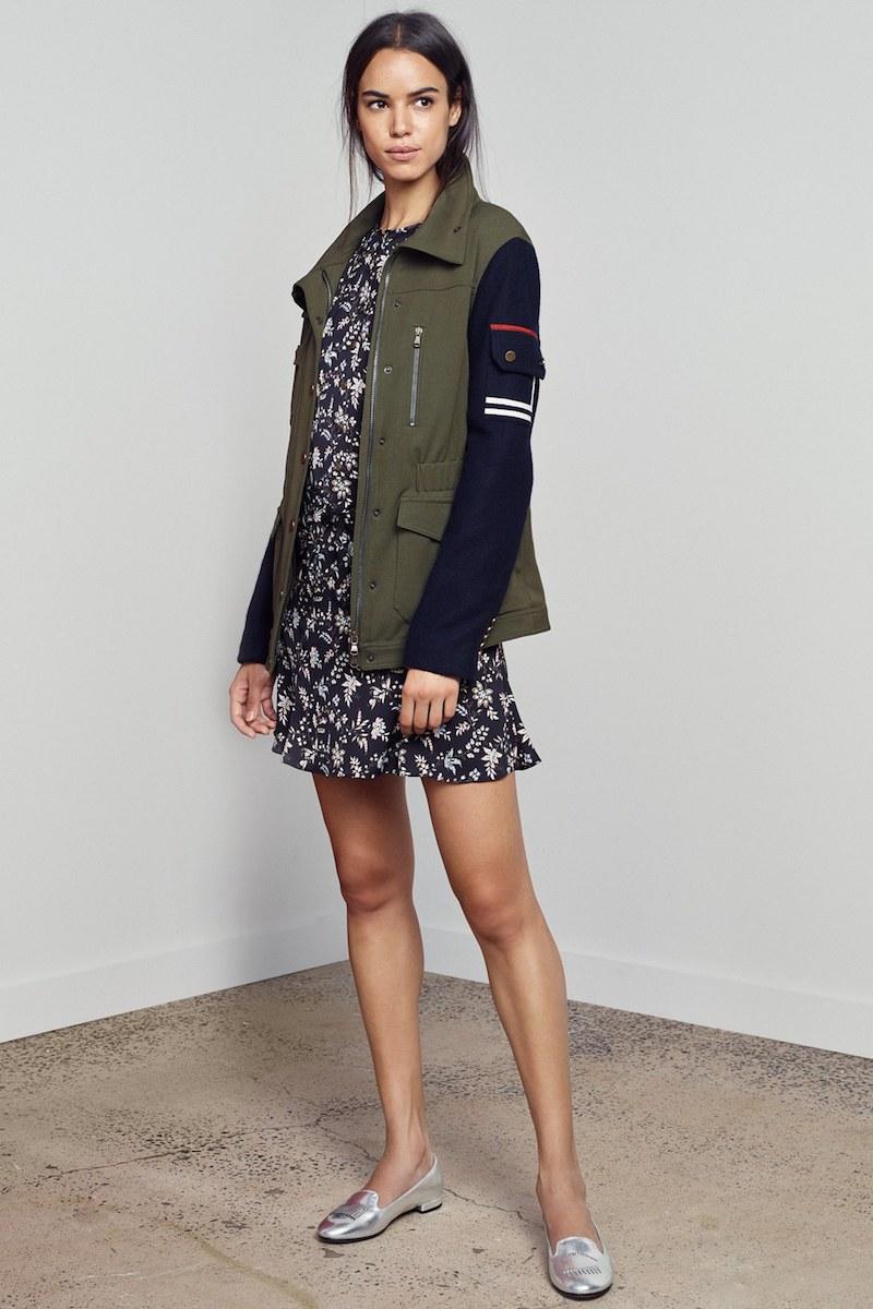 Veronica Beard Skyline Combo Army Jacket