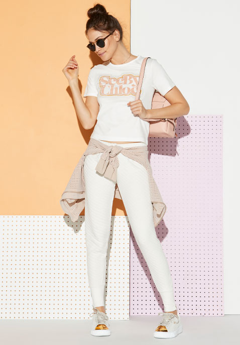 Wildfox Couture Jogger in Alabaster