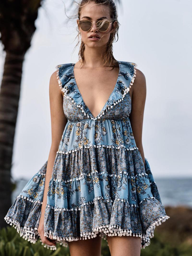 Zimmermann Swim Caravan Tiered Sun Dress
