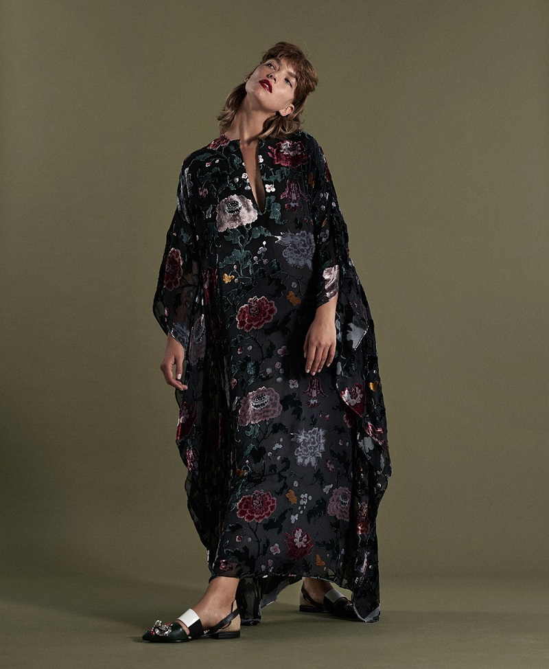 Adam Lippes Floral devoré gown