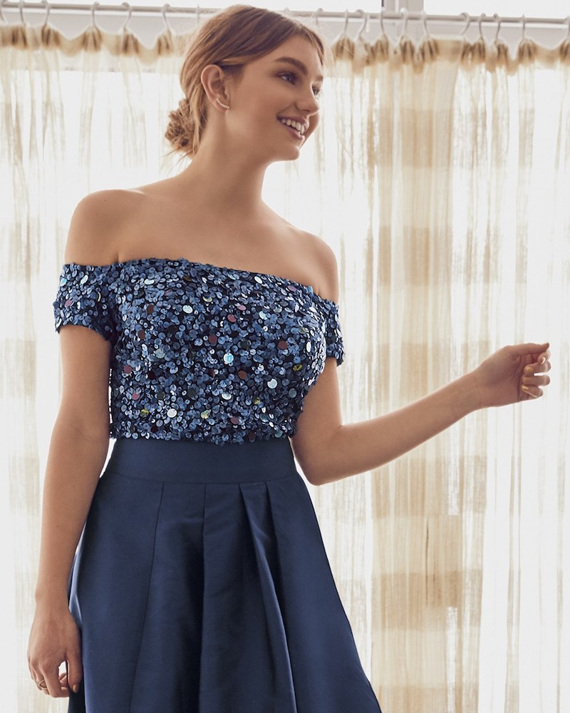 Adrianna Papell Two-Piece Ballgown
