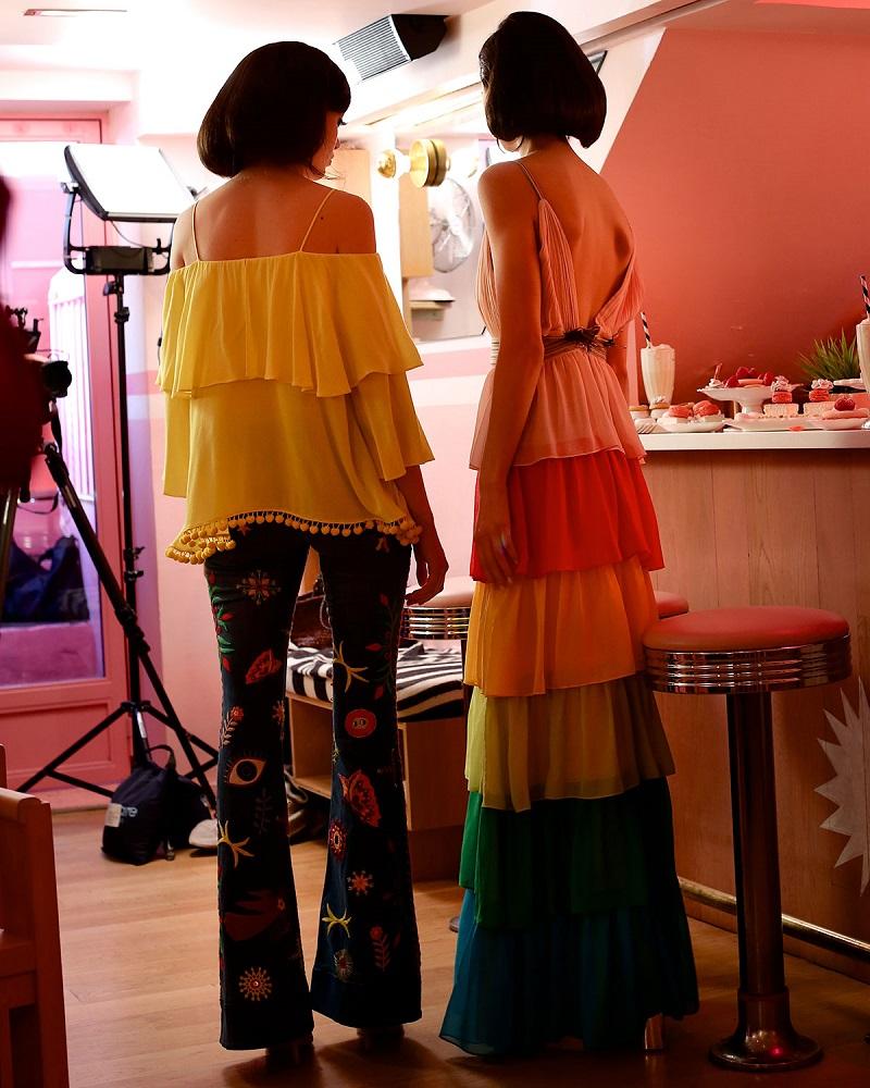 Alice + Olivia Meagan Off-the-Shoulder Pompom-Trim Top-