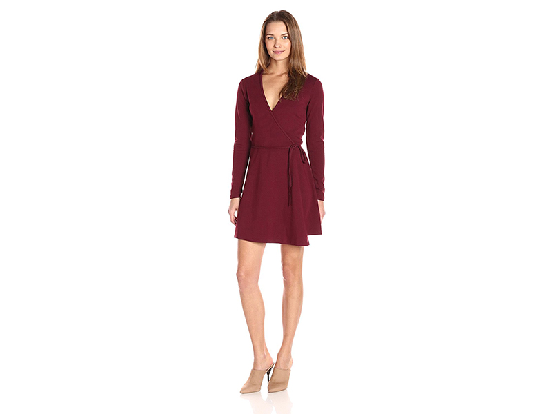 American Apparel Margot Long Sleeve Wrap Dress
