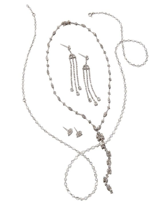 Andreoli Mixed-Cut Diamond Y-Dangle Necklace