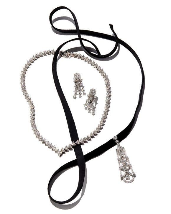 Andreoli Three-Strand Diamond Chandelier Earrings