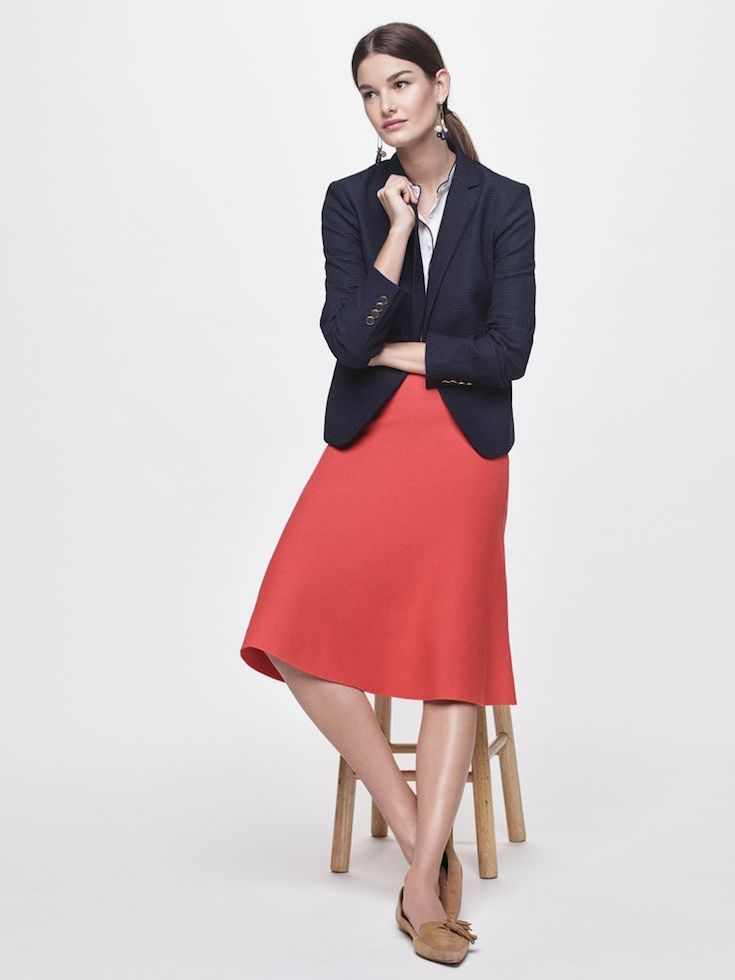 Ann Taylor Drop Waist Sweater Skirt