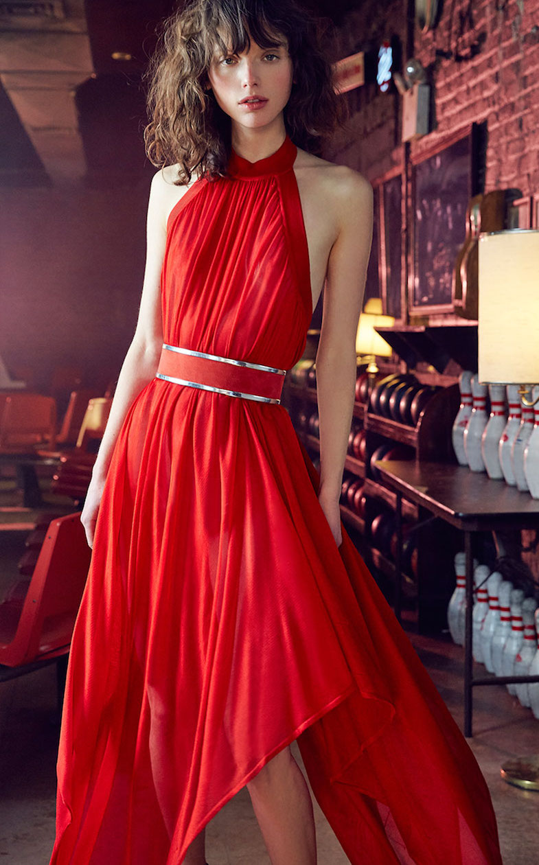 Balmain Belted Halter Gown