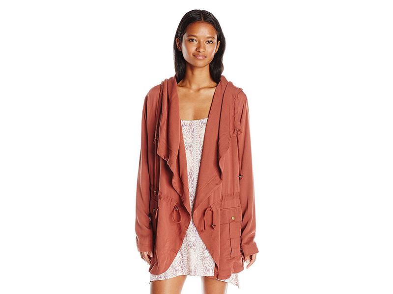 Billabong No Boundaries Woven Jacket with Oversized Hood