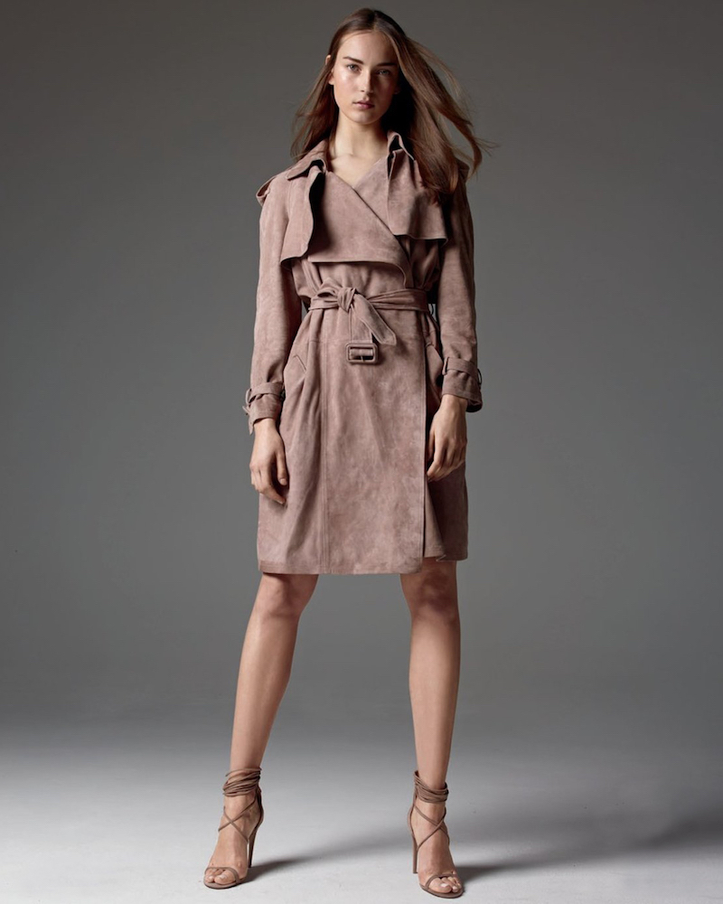 Burberry Sheep Suede Trench Coat