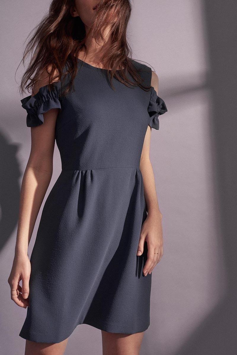 Club Monaco Shaynnah Cold-Shoulder Dress