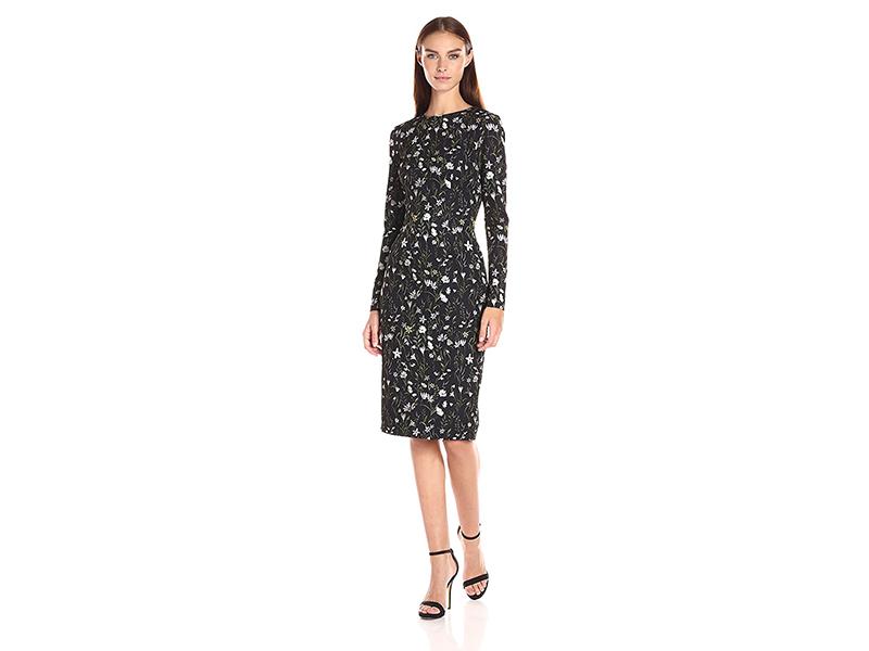 Cynthia Rowley Sleeve Midi Printed Dress
