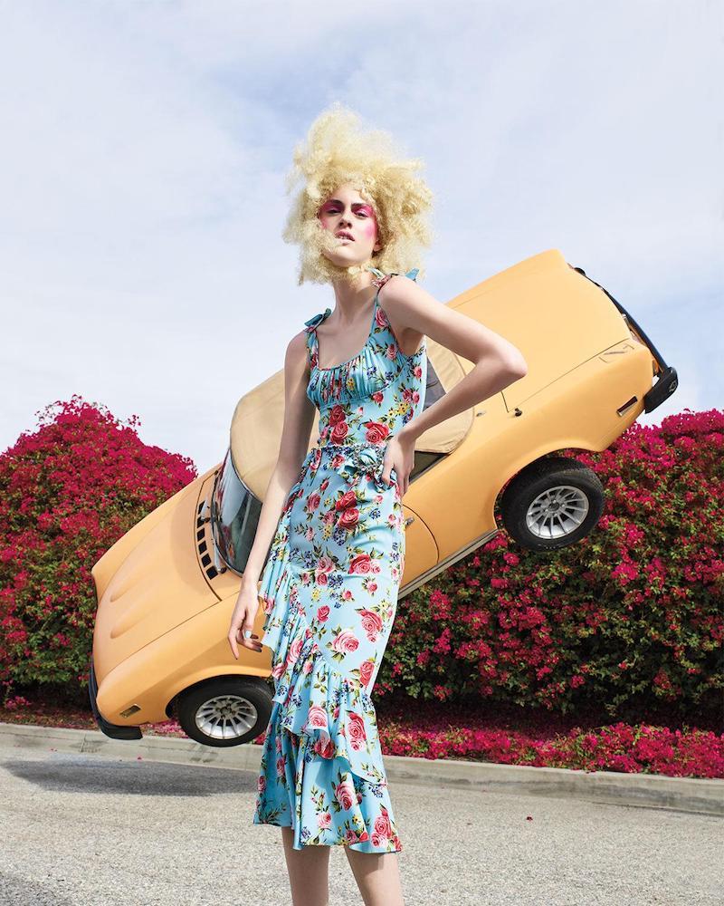 Dolce & Gabbana Floral Ruffled Sleeveless Dress