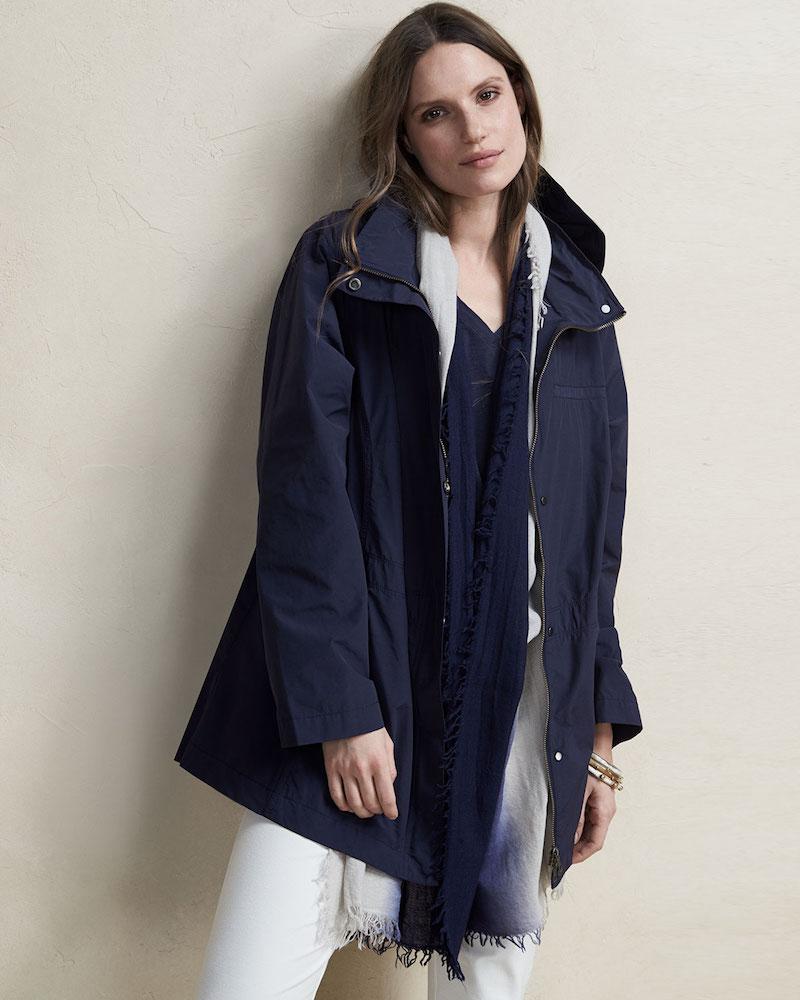Eileen Fisher Nylon Jacket with Hood